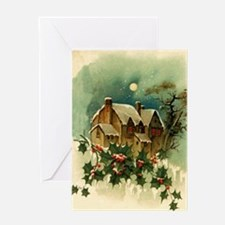 Vintage Christmas Scene Greeting Card