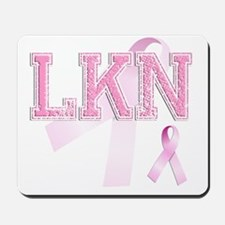 LKN initials, Pink Ribbon, Mousepad