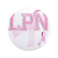 "LPN initials, Pink Ribbon, 3.5"" Button"