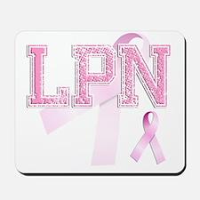 LPN initials, Pink Ribbon, Mousepad