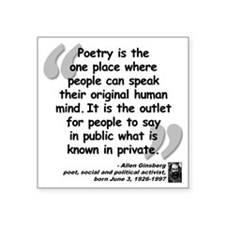 "Ginsberg People Quote Square Sticker 3"" x 3"""