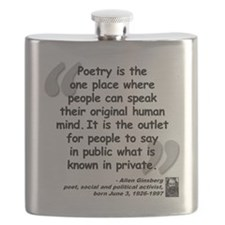 Ginsberg People Quote Flask