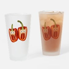 Screaming Peppers Drinking Glass