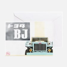 TEQ BJ faded Greeting Card