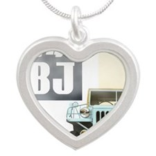 TEQ BJ faded Silver Heart Necklace