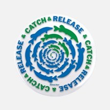 """Catch and Release Pike 3.5"""" Button"""