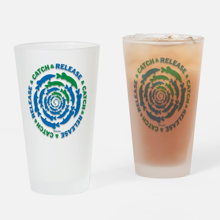 Catch and Release Pike Drinking Glass