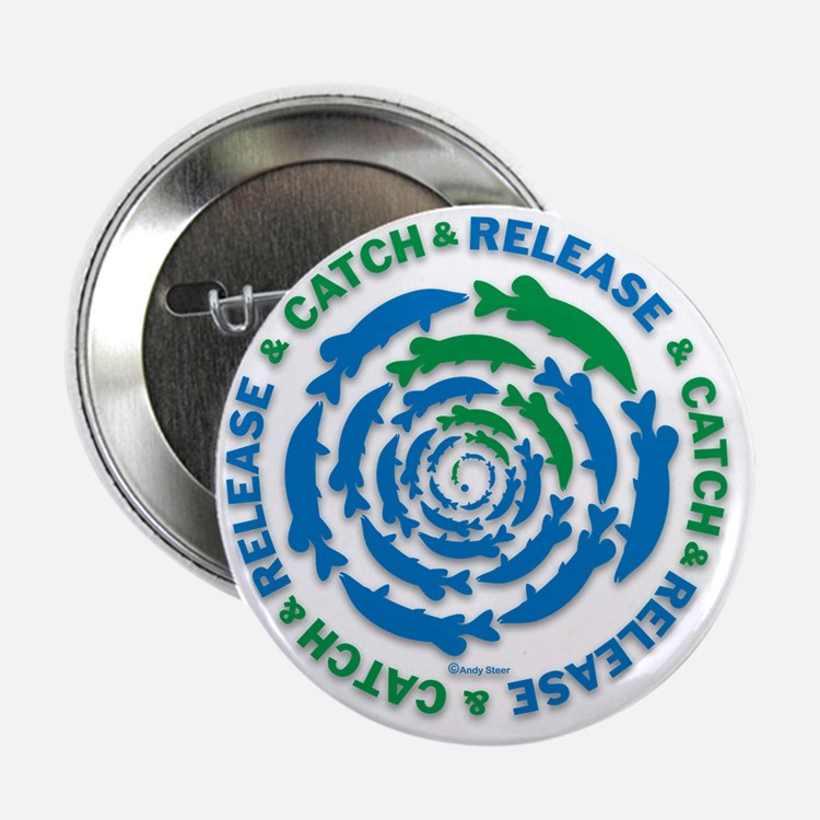 """Catch and Release Pike 2.25"""" Button"""