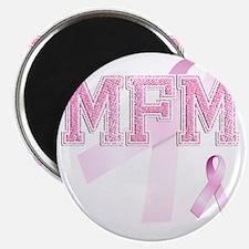 MFM initials, Pink Ribbon, Magnet