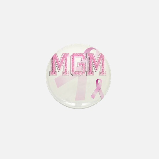 MGM initials, Pink Ribbon, Mini Button