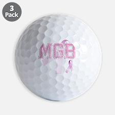 MGB initials, Pink Ribbon, Golf Ball
