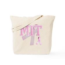 MIT initials, Pink Ribbon, Tote Bag