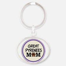Great Pyrenees Dog Mom Keychains