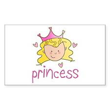 Princess Blonde Rectangle Decal