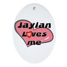 jaylan loves me  Oval Ornament