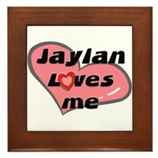 jaylan loves me  Framed Tile