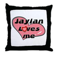jaylan loves me  Throw Pillow