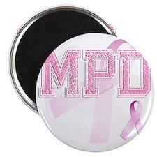 MPD initials, Pink Ribbon, Magnet
