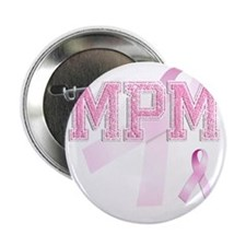 "MPM initials, Pink Ribbon, 2.25"" Button"