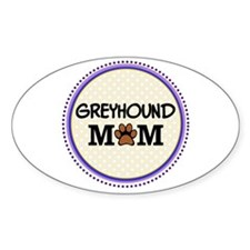 Greyhound Dog Mom Decal