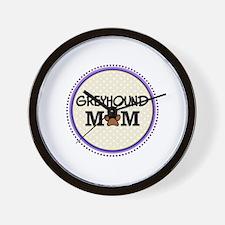 Greyhound Dog Mom Wall Clock
