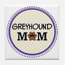 Greyhound Dog Mom Tile Coaster