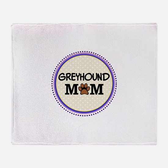 Greyhound Dog Mom Throw Blanket