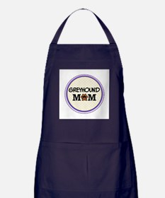 Greyhound Dog Mom Apron (dark)