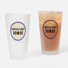 Greyhound Dog Mom Drinking Glass