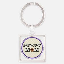 Greyhound Dog Mom Keychains