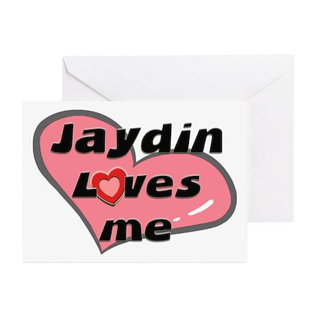 jaydin loves me Greeting Cards (Pk of 10)