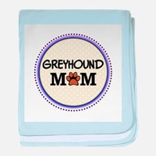 Greyhound Dog Mom baby blanket