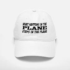 What Happens in the Plane Baseball Baseball Cap