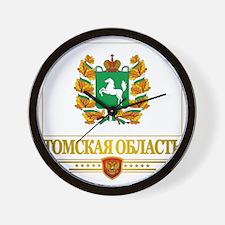 Tomsk Oblast Flag Wall Clock