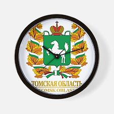 Tomsk Oblast COA Wall Clock
