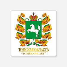 "Tomsk Oblast COA Square Sticker 3"" x 3"""