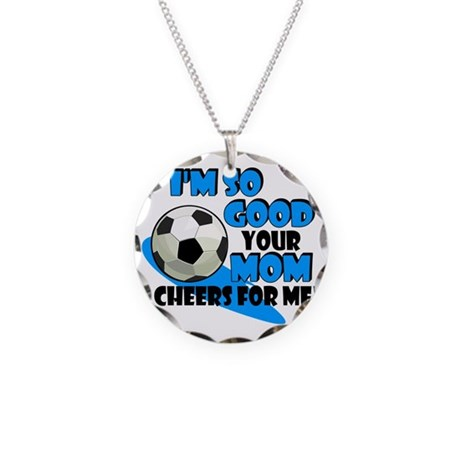 So Good Soccer Necklace Circle Charm
