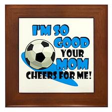 So Good Soccer Framed Tile