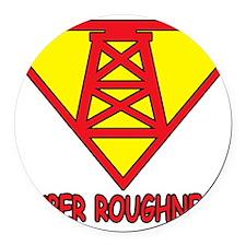 SUPERROUGHNECK Round Car Magnet