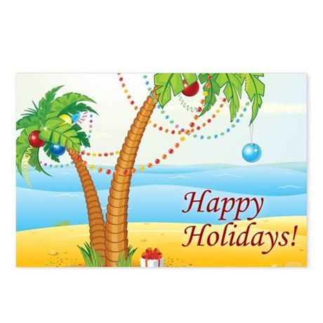 Palm Tree Holiday Postcards (Package of 8)
