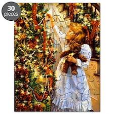 Vintage Christmas Scene Puzzle