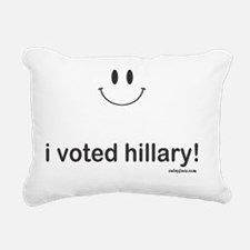 i voted hillary Rectangular Canvas Pillow