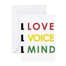 NEW-One-Love-voice-mind4 Greeting Cards