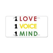 NEW-One-Love-voice-mind4 Aluminum License Plate