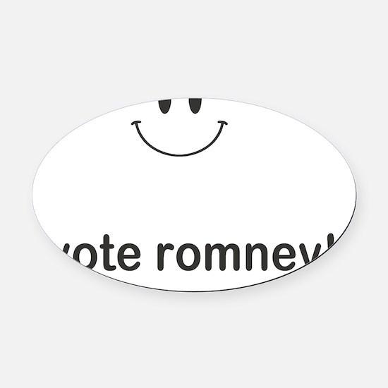 i vote romney Oval Car Magnet