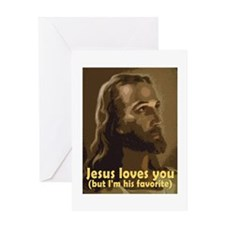 Jesus Loves You, But I'm His Greeting Cards (Pack