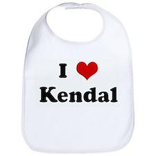 I Love Kendal Bib