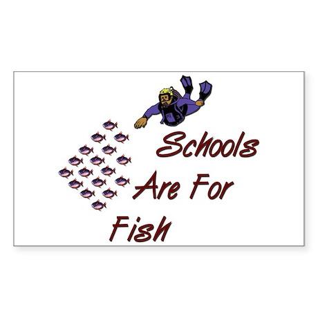 Schools Are For Fish Rectangle Sticker