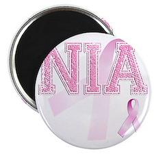 NIA initials, Pink Ribbon, Magnet