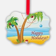 Palm Tree Holiday Ornament